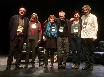 From left: Oren Teicher, Betsy Burton, Gayle Shanks, Michael Tucker, Becky Anderson, and Mitch Kaplan