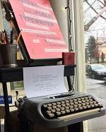 Typewriter at Battenkill Books