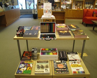 A photo of the art supplies selection at the Delaware Art Museum Store