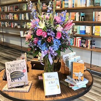 Table at Johns Creek Books & Gifts