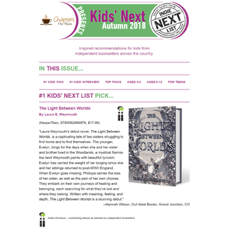 Kids Autumn Indie Next List enewsletter