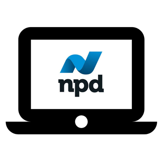 NPD logo on computer screen