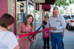 Ribbon cutting at Narrow Gauge Book Co-op
