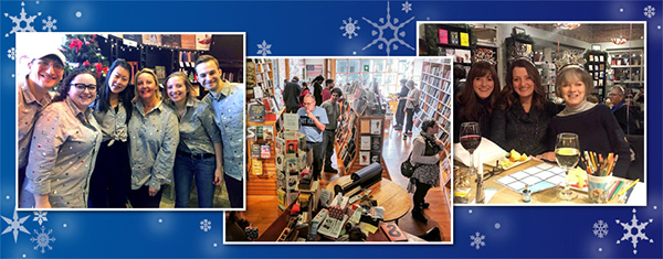 Booksellers celebrating the holiday sales season