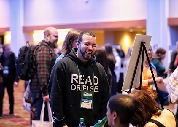 Booksellers enjoy the Author Cocktail Reception at Winter Institute.