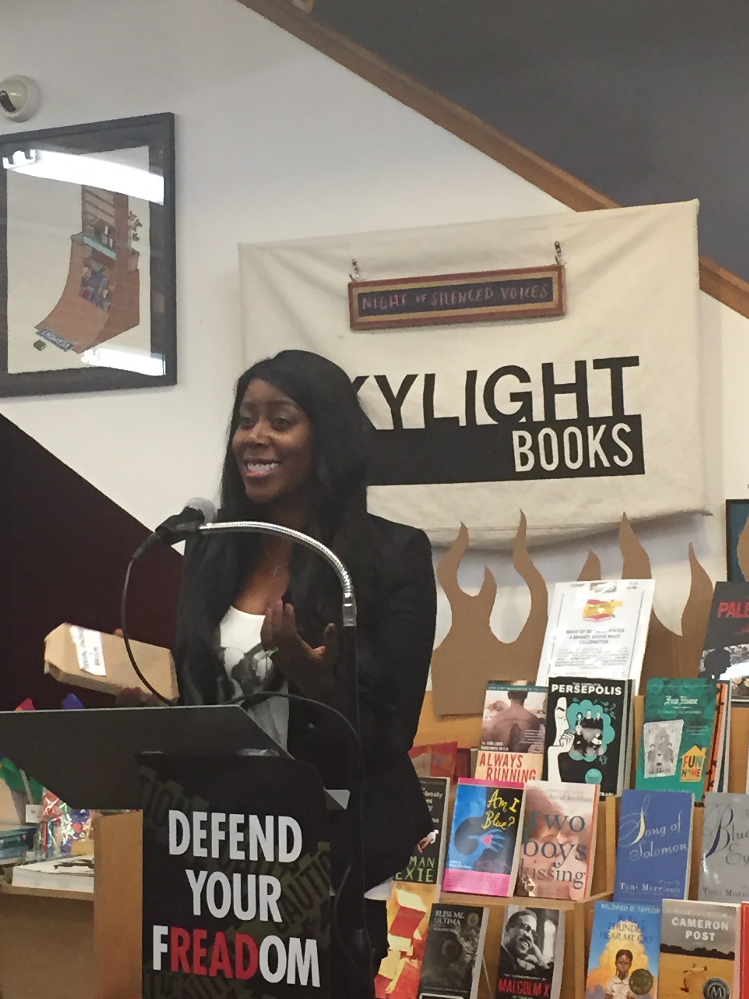 Author Natashia Deon reading at Skylight Books.