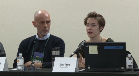 "Bookselling Without Borders co-founder Michael Reynolds and new BWB coordinator Anna Thorn describe the impact of the program at the ""Selling Diverse and International Books"" session at Winter Institute 14."