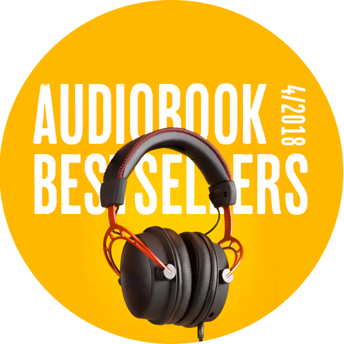 April 2018 audiobook bestsellers logo