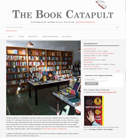 The Book Catapult website homepage