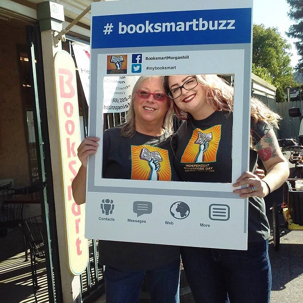 BookSmart in Morgan Hill, California, creates a fun photo opportunity for customers.