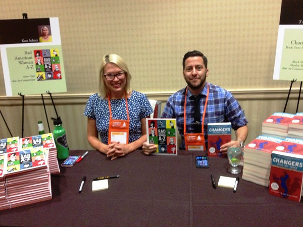Authors Kate Schatz and T Cooper at the Author Reception.