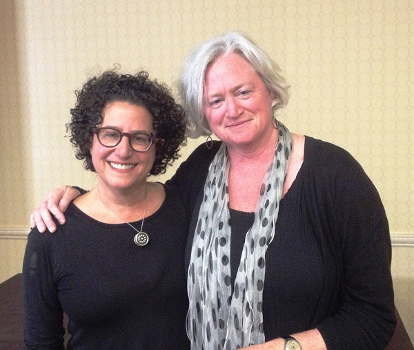 """Author Marla Frazee and Beach Lane Books publisher Allyn Johnston after their featured talk """"Creating a Picture Book."""""""