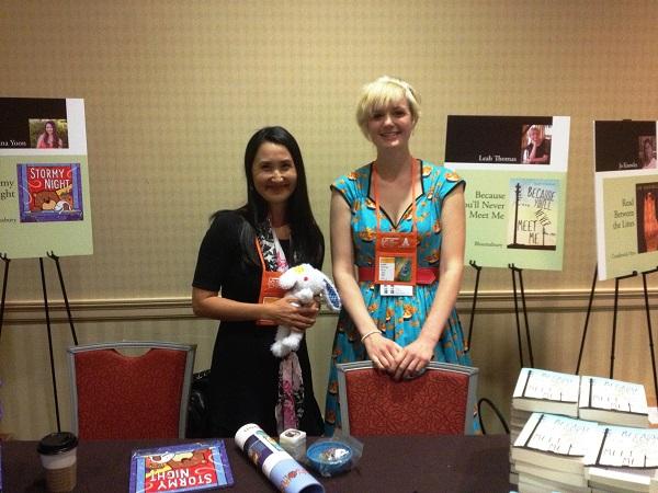 Authors Salina Yoon and Leah Thomas at the Author Reception.