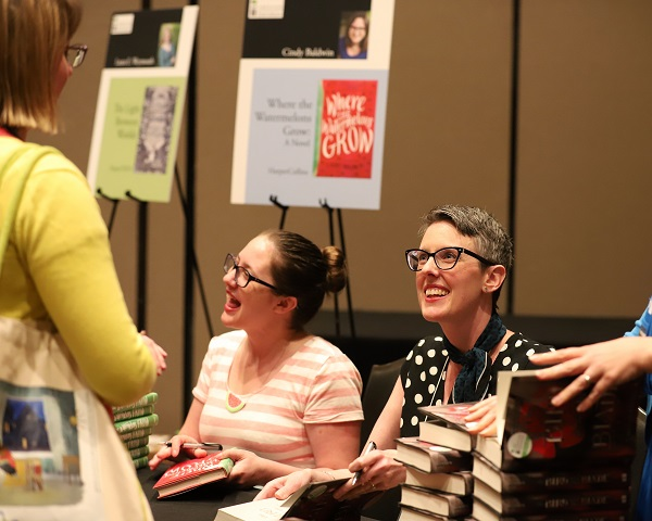 Booksellers meet with Indies Introduce authors Cindy Baldwin and Megan Bannen.