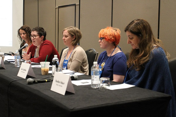 Bookseller panelists discuss best practices for holding large-scale events.