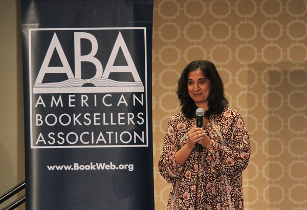 Keynote speaker Mallika Chopra discusses meditation and intention.