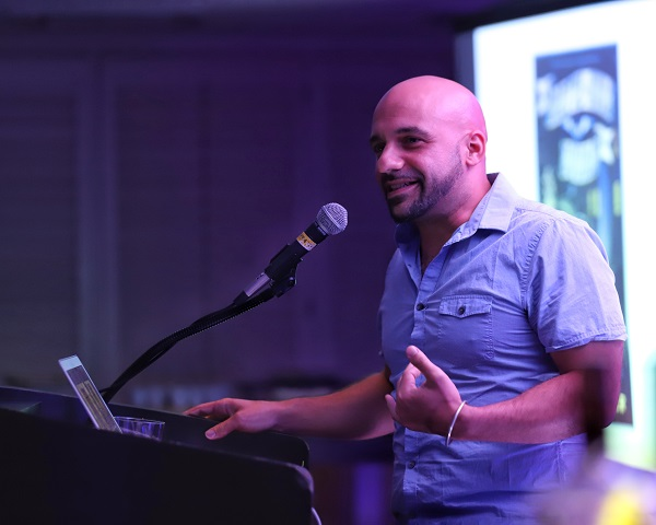 """The Scholastic """"Power of Story"""" after party featured Daniel José Older."""