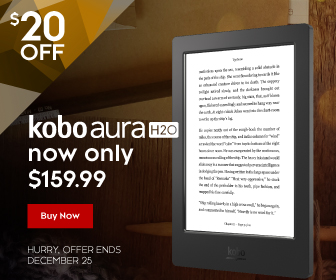Web banner for Kobo Aura H2O