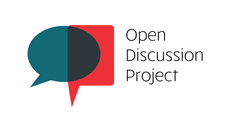 The Open Discussion Project logo, which is two speech bubbles interconnected.