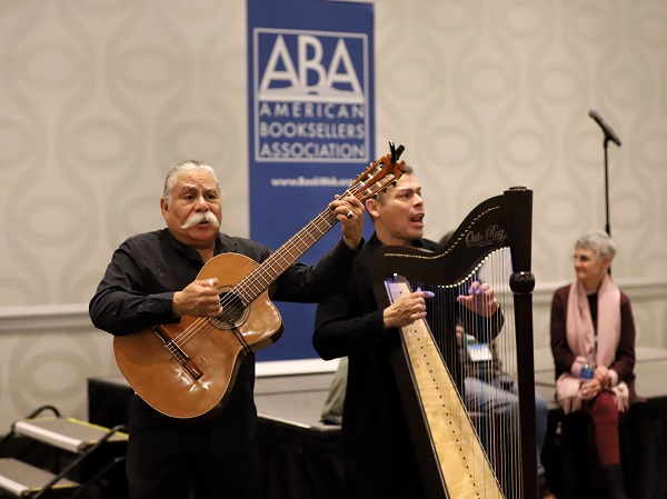A musical performance taking place at the Wi14 Welcome Reception.