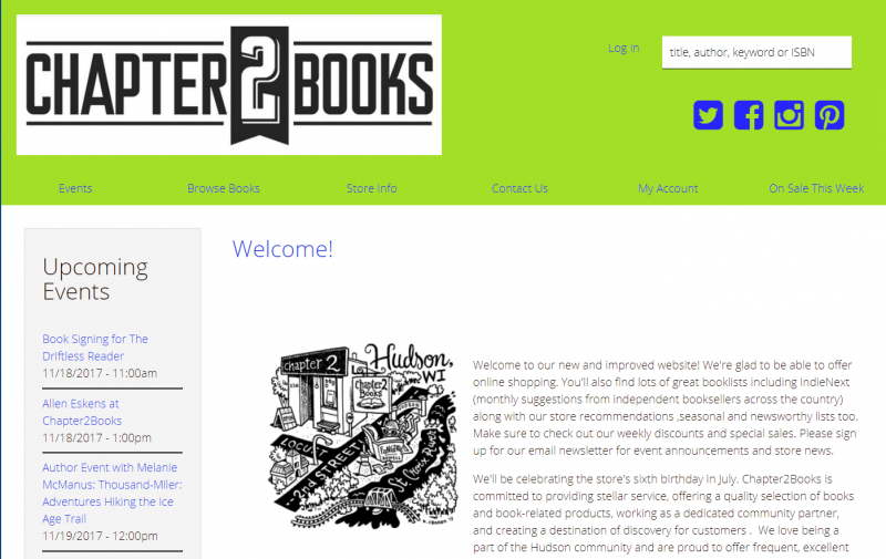 Chapter2Books homepage