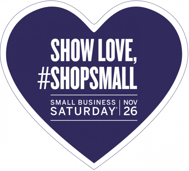 Small Business Saturday #shopsmall heart