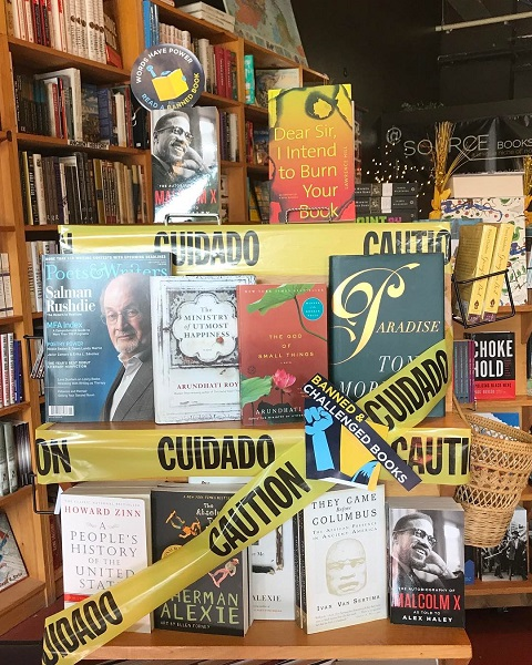 Source Booksellers' Banned Books Week display.