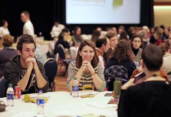 Booksellers learn about upcoming titles at the Speed Dating Lunch with publisher reps.