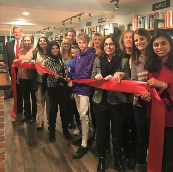 Ribbon cutting at The Book House in Millburn, New Jersey