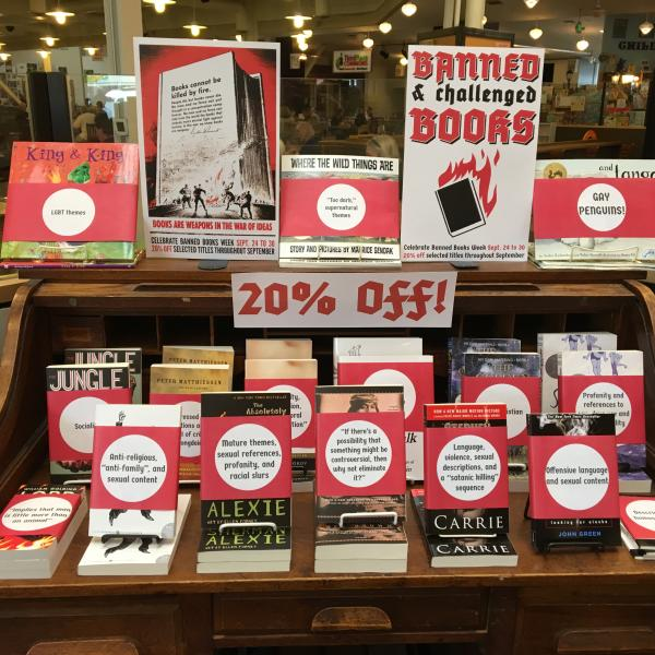 Third Place Books in the Seattle area hopes its display of banned and challenged books will spark conversation.