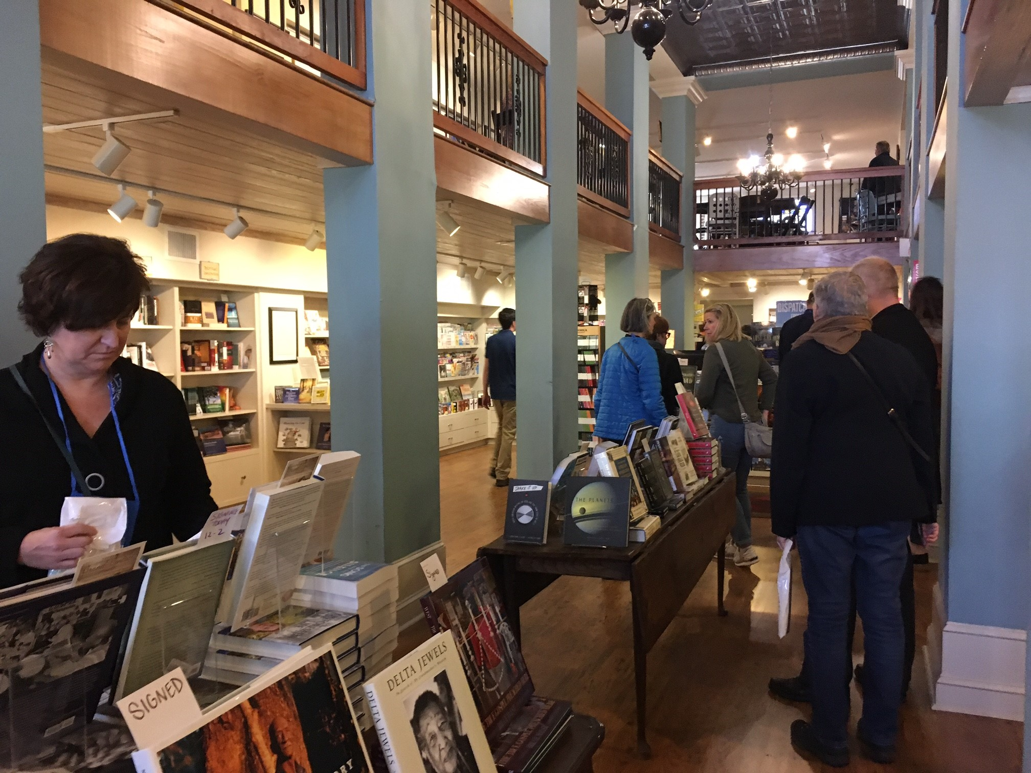 Booksellers visited Turnrow Book Co. on Monday.
