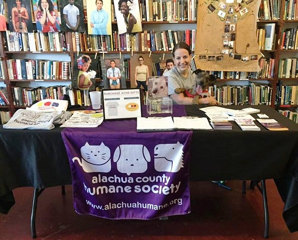 Gainesville, Florida's Wild Iris Books invites in the Humane Society (and an adorable puppy).