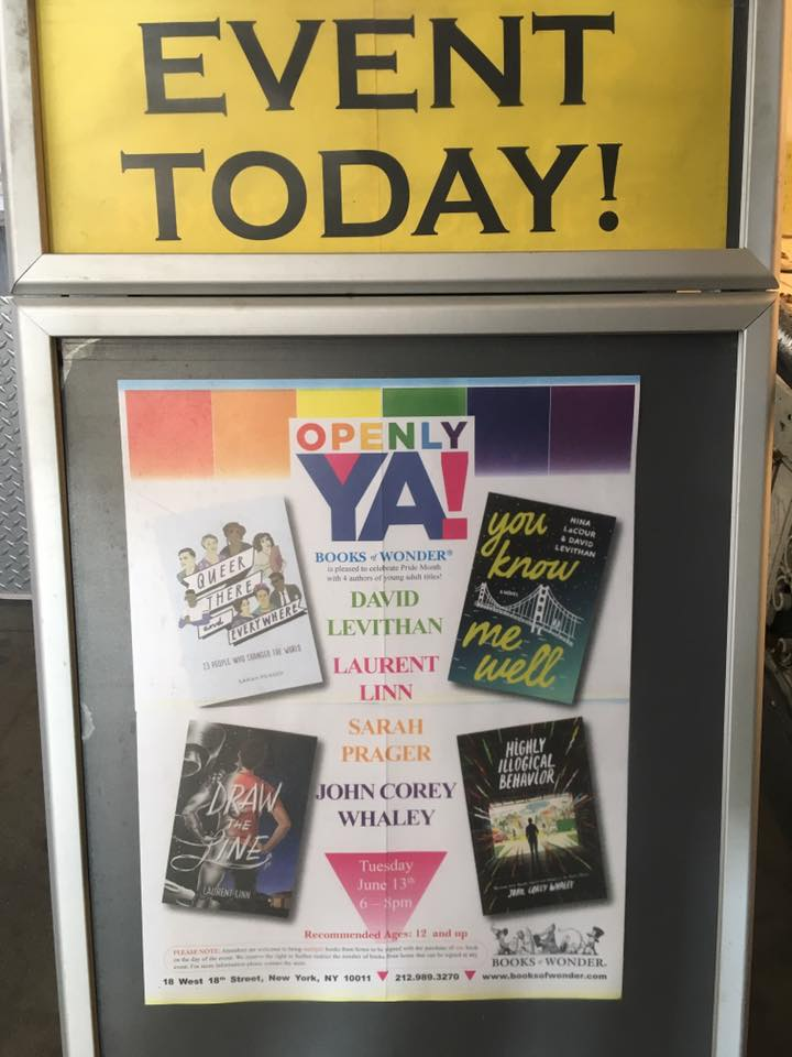 Books of Wonder in New York City hosted an Openly YA! author event.
