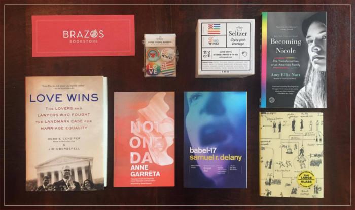 Houston, Texas' Brazos Bookstore's LGBTQ pride display