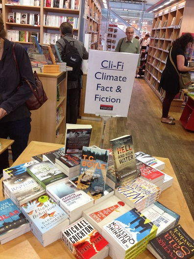 Foyles in the U.K. has jumped on the cli-fi trend, creating a climate fact and fiction display table for customers to peruse.
