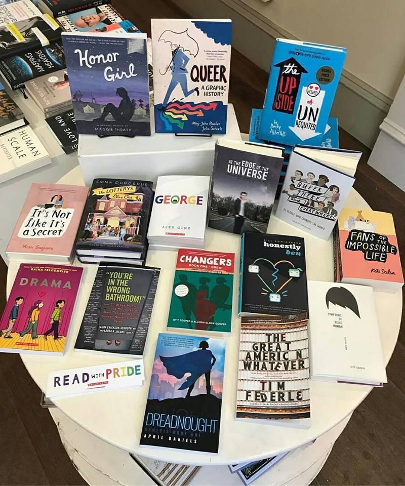 Teen-centered LGBTQ pride display at DIESEL, A Bookstore in Santa Monica, California