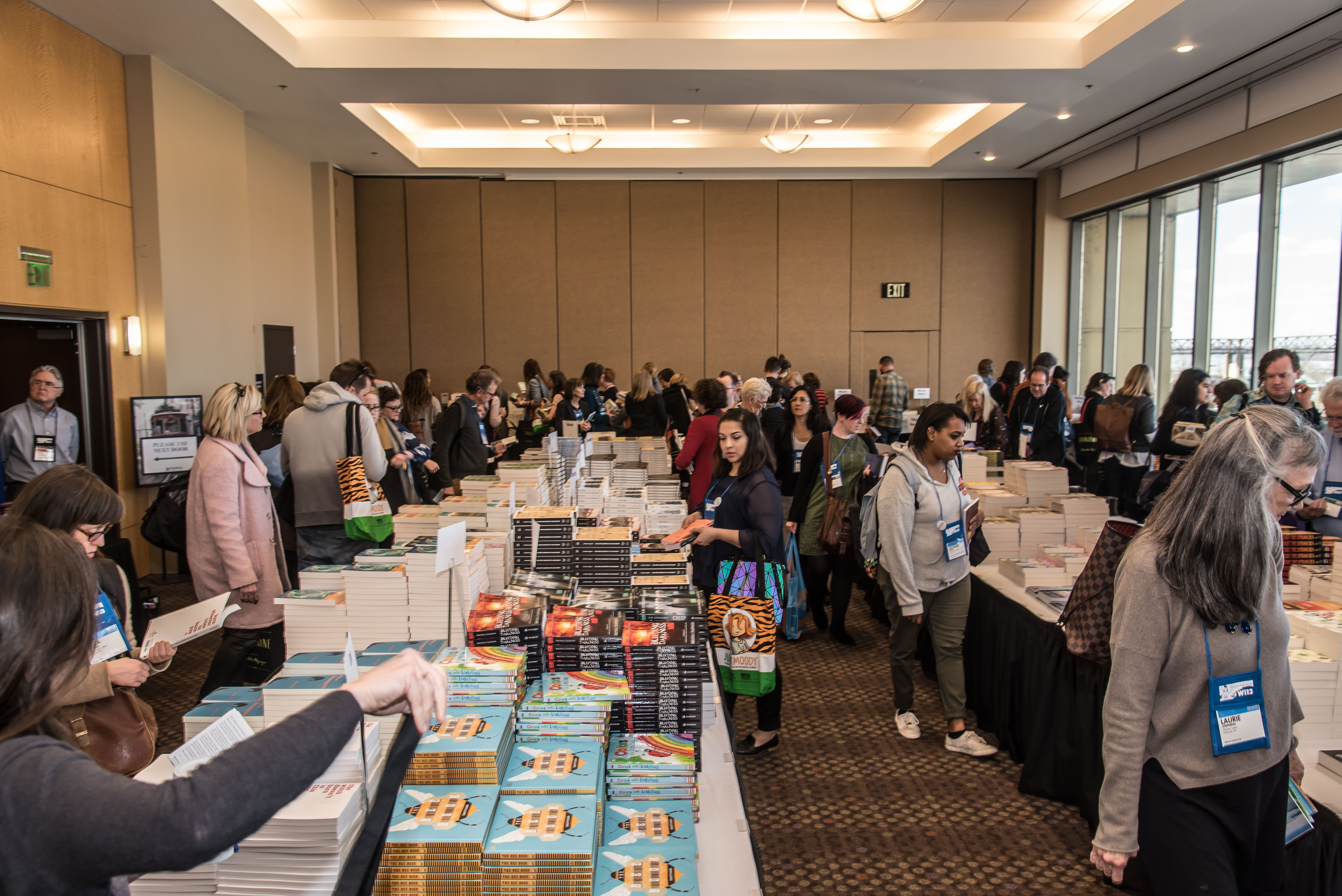 The galley room was a highlight for booksellers at Wi13.
