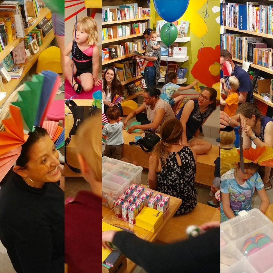 """The Mane Event"" at Interabang Books in Dallas featured story time, lion crafts, and a roaring contest."