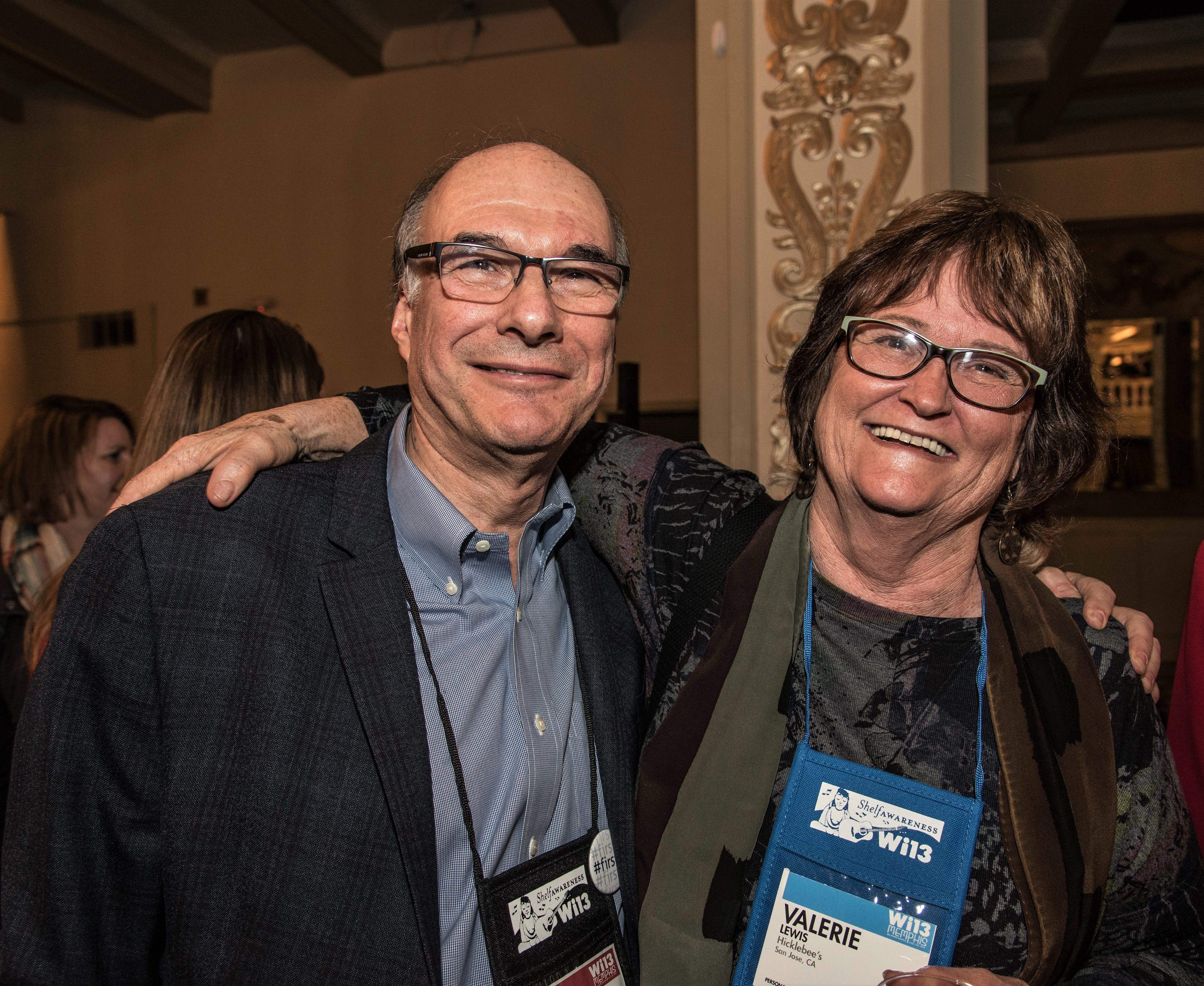 ABA CEO Oren Teicher and Valerie Lewis of Hicklebee's.