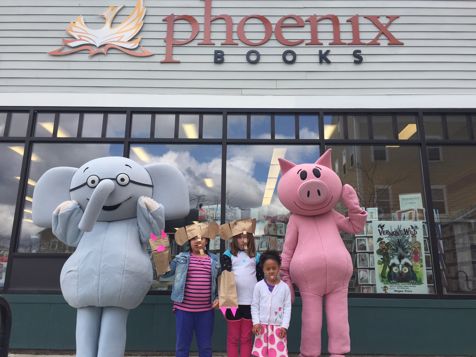 Party-goers at Phoenix Books' Rutland and Essex locations got to meet Elephant and Piggie.