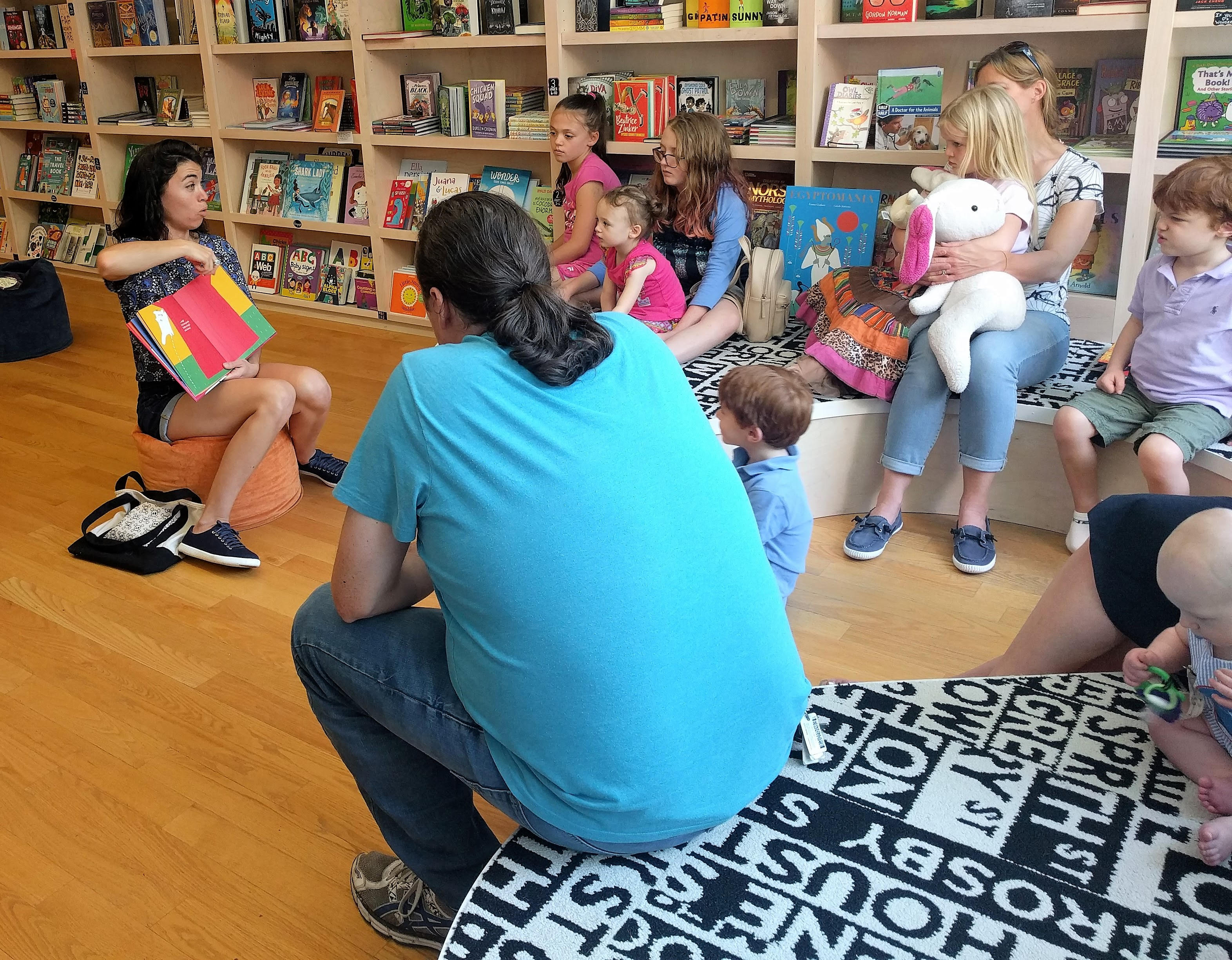 A special Independent Bookstore Day story time at Read With Me in Raleigh, North Carolina