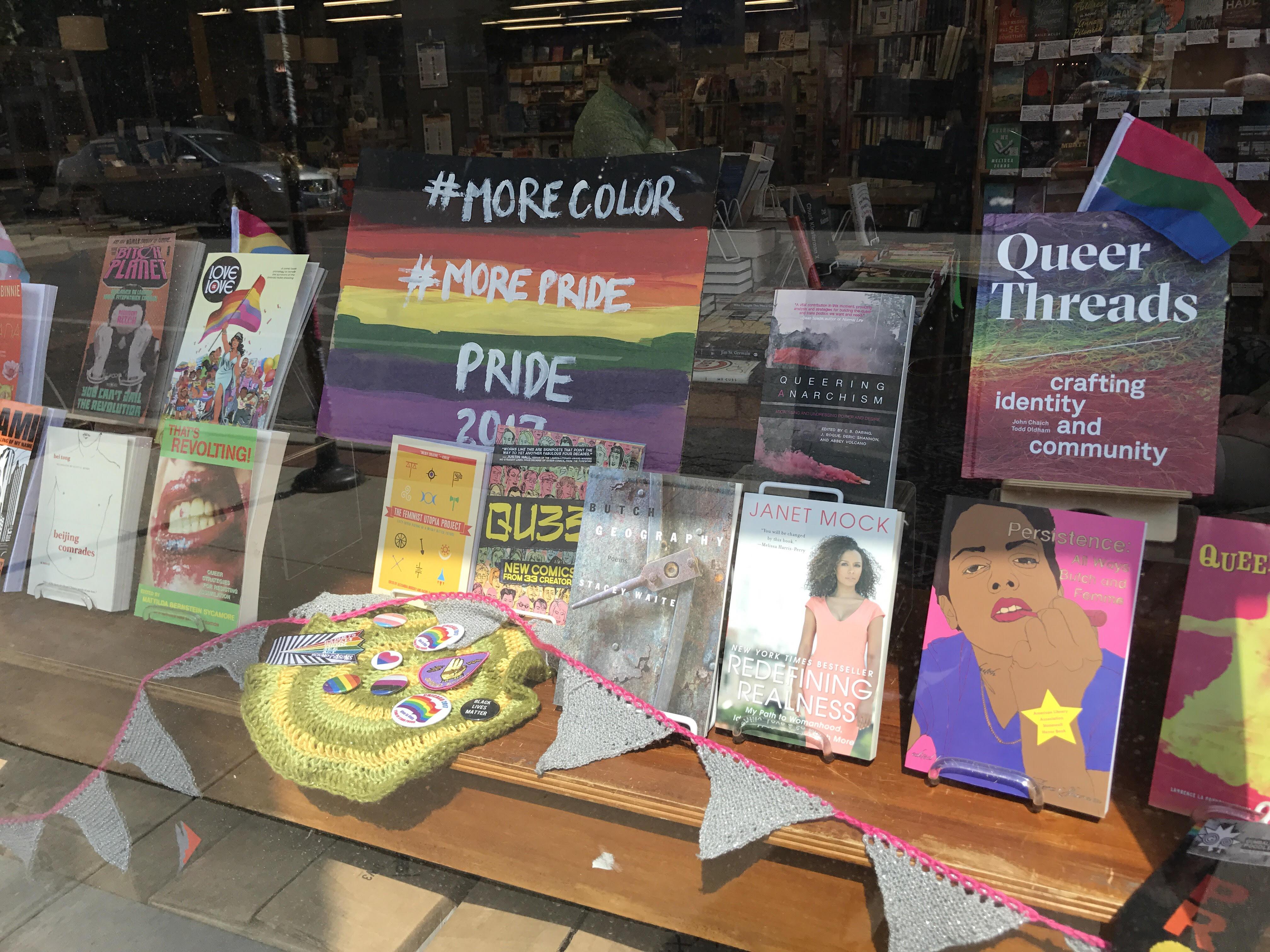 Women & Children First's Pride display