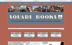 Home page of Square Books web site