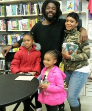 Jason Reynolds connects with fans at Politics and Prose at The Wharf.