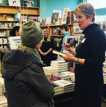 Author Marcy Houle at Broadway Books in Portland, Oregon.