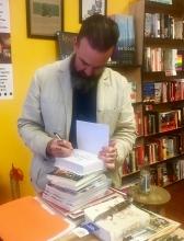 Naturalist Obi Kaufmann visits Rakestraw Books.