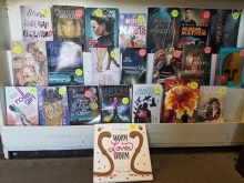 LGBTQ pride display at Annie's Book Stop in Worcester, Massachusetts