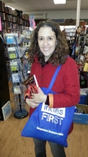 Shana Burg found shopping at Book Spot as much fun as handselling.