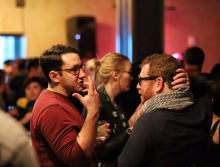 Booksellers mingle at the opening night Afterparty at the Hotel Andaluz.