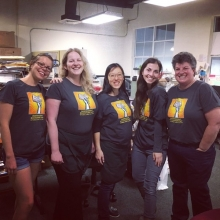 The Bookshop Santa Cruz team dresses up in Independent Bookstore Day tees.